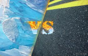 асфальт который плавит лед